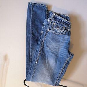 True Religion Skinny Jeans Flap Pocket Buddha 27